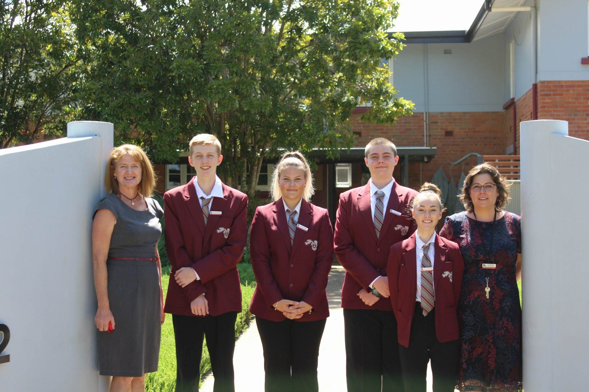 The School Leaders 2020 for Ravenshoe State School-Secondary are Secondary Vice Captain: Zac Fordson, Secondary School Captain: Skye Adamson, Secondary School Captain: Darcy Kemp, and Secondary Vice Captain: Paige Groves, with Principal: Ms Helen Carne and Deputy Principal: Ms Jess Cairns.  View The School