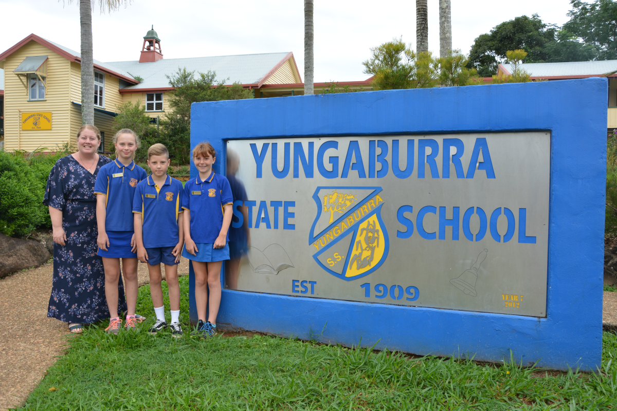 The School Leaders 2020 for Yungaburra State School are Acting Principal: Adrianne Telford, Vice Captain: Brooke Davidson, Captain: Blake Mete, Captain: Niamh Radcliffe, Vice Captain: Atticus Diefenbach (not in photo) View The School